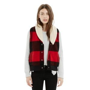Woolrich Red Buffalo Plaid Madewell Vest